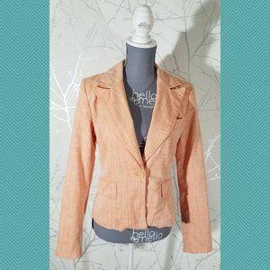 Powerline Orange Striped Single Button Blazer